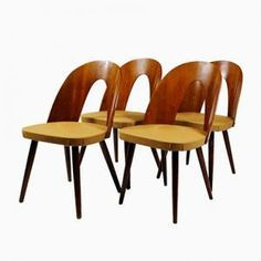 Dining Chairs by Antonin Suman for Tatra, 1960s, Set of 4