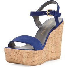 209777af996 Stuart Weitzman Single Suede Wedge Sandal ( 398) ❤ liked on Polyvore  featuring shoes