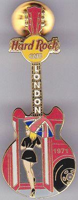 HARD ROCK CAFE - LONDON - GUITAR PIN