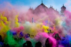 """Celebrate Holi Festival in India. -It is on my """"Live & Love Life"""" List to go to India during the Holi Festival (celebration of color[s]) Holi Festival India, Holi Festival Of Colours, Beautiful World, Beautiful Places, Hindu Festivals, World Of Color, Incredible India, Oh The Places You'll Go, Dream Vacations"""