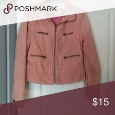 Pink Corduroy Jacket 100% cotton jacket with brass-look zippers. Children's size XL but fits an adult medium. Please inquire if you need any clarification on size. Roxy Jackets & Coats
