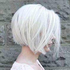 Layered Silver Bob Hairstyle