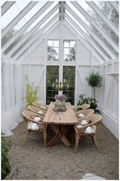 Lovely Outdoor Entertaining Space #conservatorygreenhouse