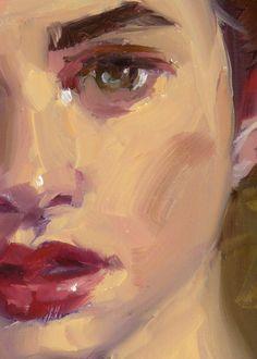 """Cherry Lips"" (close-up of female), John Larriva art"