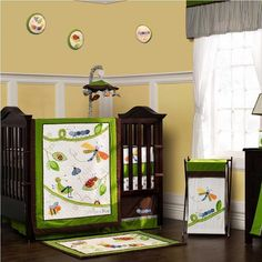Cute as a Bug 9 Piece Baby Crib Bedding Set with Bumper by Kidsline #Kidsline