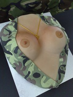 Combat Boobs Cake | Flickr - Photo Sharing!
