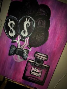 CHANEL PARIS painting on canvas