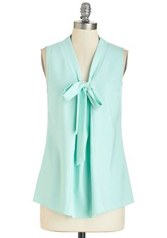 Happiest of Hours Top in Mint. The presentation is complete and the execs are impressed - now its time to celebrate the success in this mint top! #mint #modcloth