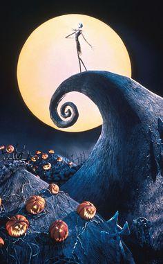Spooky Disney Nightmare Before Christmas Advertising Halloween Postcard ! Halloween Wallpaper Iphone, Fall Wallpaper, Cute Disney Wallpaper, Halloween Backgrounds, Cartoon Wallpaper, Wallpaper Backgrounds, Tim Burton Kunst, Tim Burton Art, Halloween Movies