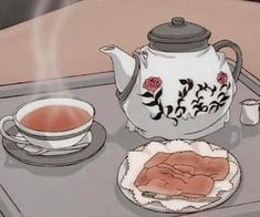 Image about love in anime food by disco. Beige Aesthetic, Aesthetic Themes, Aesthetic Images, Aesthetic Backgrounds, Aesthetic Food, Aesthetic Anime, Aesthetic Drawings, Old Anime, Anime Art