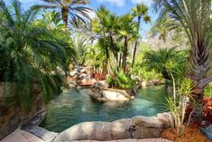 50 Easy DIY Garden Ideas You Can Create Yourself To Accent Your Landscape Backyard Lazy River Tropical Pool Lazy River Pool, Backyard Lazy River, Small Backyard Pools, Swimming Pools Backyard, Garden Pool, Easy Garden, Patio Tropical, Tropical Landscaping, Backyard Landscaping