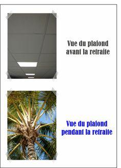 Carte Vue du plafond pendant la retraite pour envoyer par La Poste, sur Merci-Facteur !