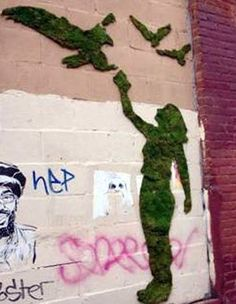 Moss Graffiti @MayleaDingus .... we must do this! So cool! :)