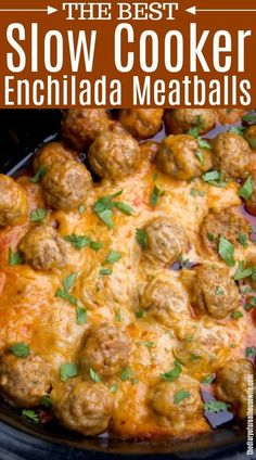 Slow cooker enchilada meatballs enchilada slowcooker appetizer meatballs teriyaki pineapple meatballs are the perfect appetizer and a crowd pleaser Crock Pot Recipes, Potluck Recipes, Mexican Food Recipes, Beef Recipes, Barbecue Recipes, Crockpot Potluck, Slow Cooker Meat Recipes, Crock Pots, Slow Cooker