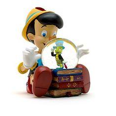 Disneyland Paris - Pinocchio Schneekugel mit Musik