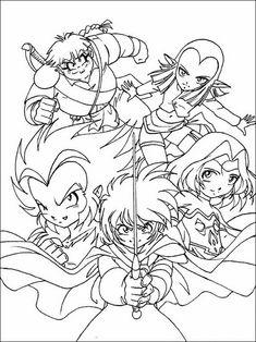 Disegni da colorare per bambini da stampare The Legend of the Legendary Heroes 8