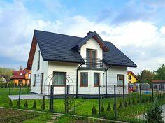 MojaBudowa.pl wpis: Wykończony House Floor Plans, Home Fashion, Architecture Design, Gardening, Cabin, Flooring, House Styles, Home Decor, Balcony