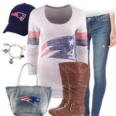 New England Patriots Outfit, Patriots Hat, Long Sleeve Patriots Tee Patriots Logo, New England Patriots Football, Patriots Game, Football Outfits, Football Memes, College Football, England Shirt, Cool Outfits, Casual Outfits