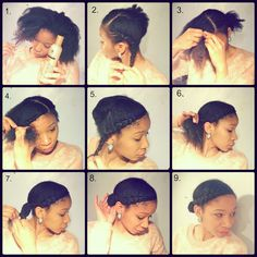 @Crystal Afro's swooping braid and bun tutorial. #UKNaturals #TeamNatural #OfficiallyNatural