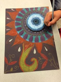 Our mandalas are ALMOST done! Students have used INTRICATE patterns to fill in their spaces. Wr also have been applying our color ...