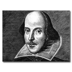 William Shakespeare Portrait Postcard