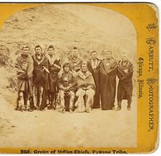 ***Pawnee Indian Chiefs by John Carbutt, Chicago  c.1870s