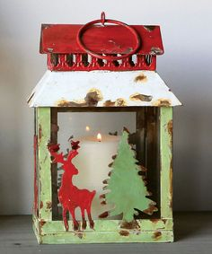 Another great find on #zulily! Square Reindeer & Tree Tin Lantern by Creative Co-Op #zulilyfinds