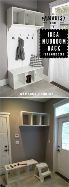 IKEA Mudroom Hack IKEA Hacks For Your Home Decor IKEA hacks can change the look of your home.It is a source for affordable furniture. We can make it by giving a DIY touch to our furniture. Home Decor Hacks, Home Hacks, Home Decor Styles, Diy Home Decor, Decorating Hacks, Ikea Hacks, Ikea Organization Hacks, Ikea Hack Kids, Ikea Furniture Hacks