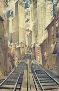 Christopher Richard Wynne Nevinson - The Soul of the Soulless City ('New York - an Abstraction') (1920)