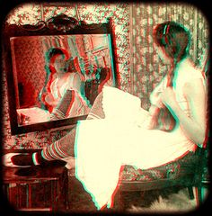 As in a Looking Glass 1899 anaglyph