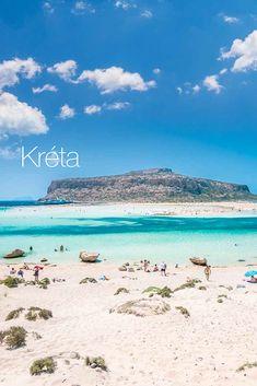 Najväčší grécky ostrov ponúka dovolenkárom nádherné pláže s jemným pieskom obmývané priezračným morom a atraktívne výlety na Santorini, alebo unikátnu lagúnu Balos. Obľúbená destinácia je ideálna pre rodinnú dovolenku. One Moment, Bratislava, Santorini, Mountains, Beach, Water, Top, Travel, Outdoor