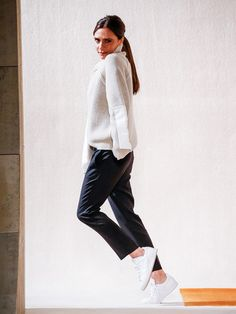 On Victoria Beckham: Victoria Beckham sweater and trousers; Adidas Originals Stan Smith Leather Sneakers (£69). Not only is her runway chock-full of takeaway inspiration for...