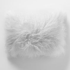 """Mongolian Lamb Pillow Cover - Stone White 12""""x16"""" - $69 (less 20% is $55.20) #westelm"""