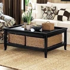 Morgan Large Coffee Table w/ Baskets