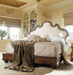 Master Bedroom!! Caperana, Casa and Barcelona (749-146) BED WITH UPHOLSTERY HEADBOARDKing Size 6/6