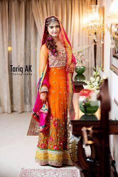 Photography by Tariq AK, bridal dress for mehndi