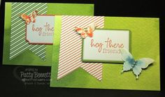 Tag a Bag tags on Watercolor Wonder Note cards - quick and easy cards by Patty Bennett, www.pattystamps.com