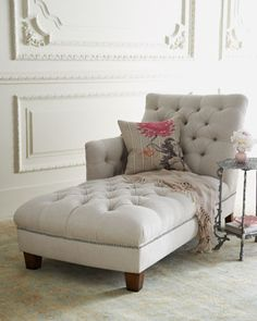 Maddox Tufted Chaise traditional day beds and chaises #home decor. I want this in the Master bedroom
