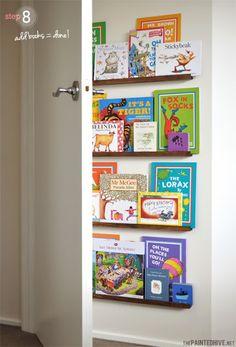 el recuperarte de min ideas estante para libros detrs de la puerta