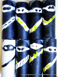 Ninja! toilet rolls - yellow eyes, paint the theme colors and use as party favors?