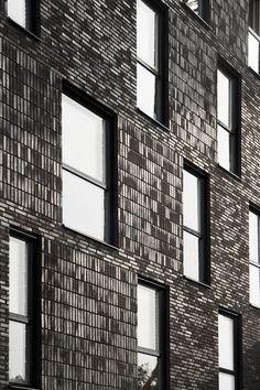 Amazing Brick Building Designs You Need See - Brick Cladding, Brick Facade, Brickwork, Brick Architecture, Residential Architecture, Architecture Details, Brick Design, Facade Design, Brick Images