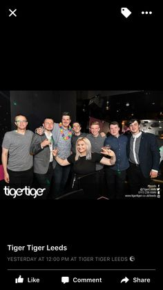 Great Saturday night out in Leeds at tiger tiger