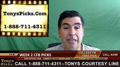 College Football Betting Picks Week 2 Friday TV Games Odds 9-9-2016