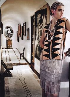 Mario Testino's Home in Vogue | Song of Style This REALLY reminds me of Edie Sedgwick,   one of Andy Warhol 's superstars. Edi Eddy Sedwick Sedgewick