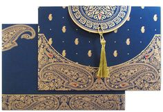 www.regalcards.com for this amazingly designed invitation card with paisley artwork in raised gold.