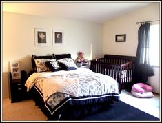 Baby Viennas Nursery Tour mamaRoo Giveaway Master bedroom