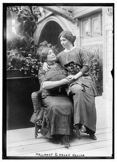 Working together helps people achieve great things. Pictured here: Annie Sullivan Macy, the teacher who helped educate Helen Keller, with her famous student. What wonderful ladies! (Photo: Library of Congress)