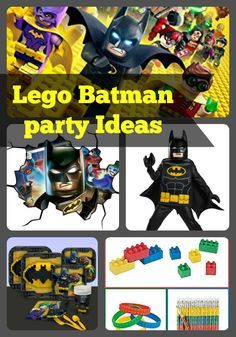 Lego Batman birthday party ideas and supplies for decorations, favors, food, games and more| Birthday Buzzin