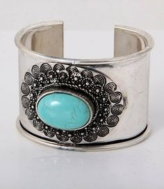 """CuffBracelet /turquoise/ 1.75"""" H/ lead & nickelcompliant Glitzs. $12.84. Save 50% Off!"""