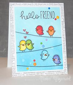 Simon Says Stamp+ Lawn Fawn Stamptember 2014 Collaboration - Feathered Friends Lawn Fawn Stamps, Paper Smooches, Card Making Inspiration, Daily Inspiration, Friendship Cards, Bird Cards, Animal Cards, Cards For Friends, Card Sketches